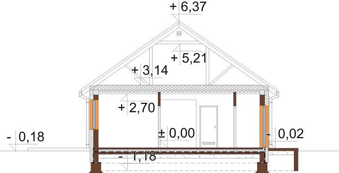 Projekt domu L-6691 - przekrój