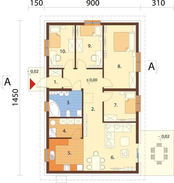 Projekt domu L-6691 - rzut