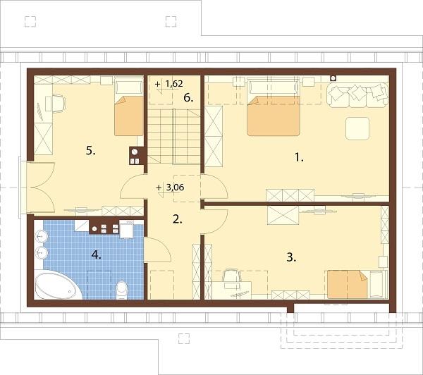 Projekt domu DM-6681 - rzut