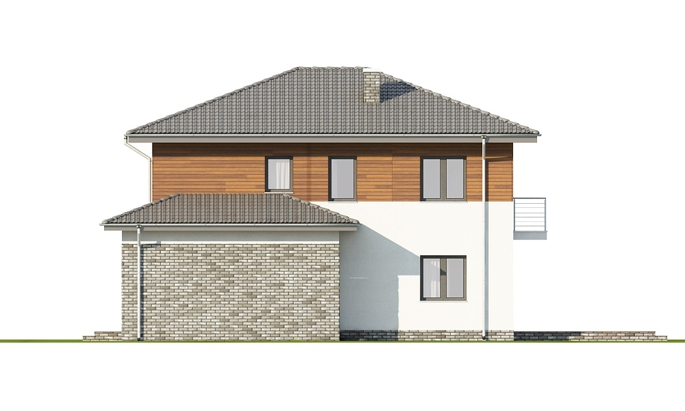 Projekt domu DM-6679 - elewacja