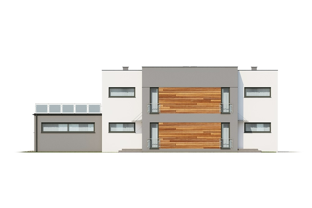 Projekt domu DM-6680 - elewacja