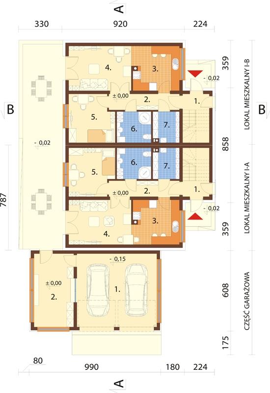 Projekt domu DM-6680 - rzut
