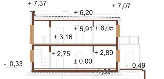 Projekt domu DM-6680 - przekrój