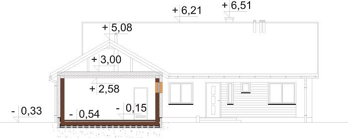 Projekt domu DM-6682 - przekrój