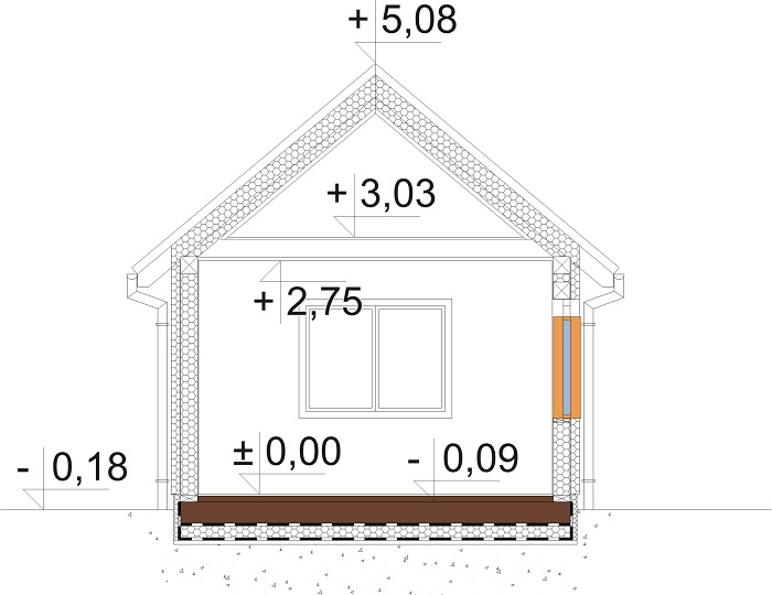 Projekt domu DM-6692 - przekrój