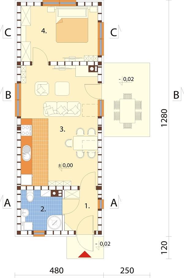 Projekt domu DM-6692 - rzut