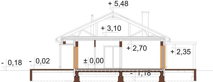 Projekt domu DM-6694 - przekrój