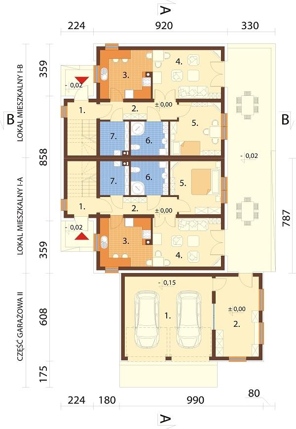 Projekt domu L-6680 - rzut