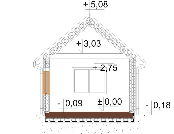 Projekt domu L-6692 - przekrój