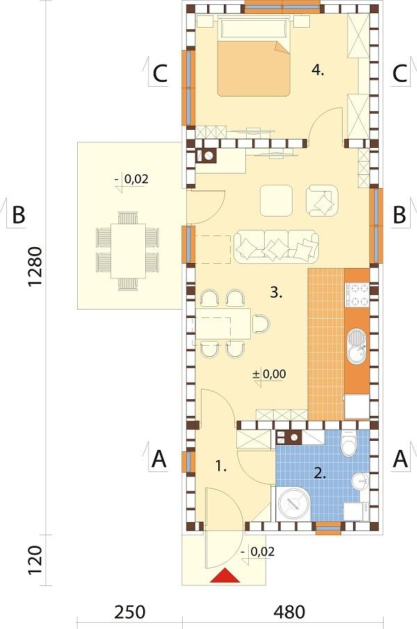 Projekt domu L-6692 - rzut