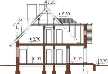 Projekt domu DM-5502 - przekrój