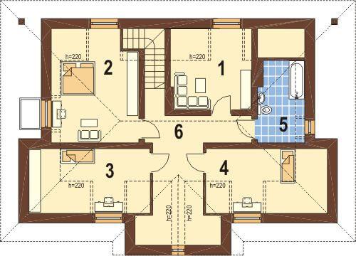 Projekt domu DM-5502 - rzut