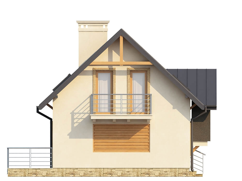 Projekt domu DM-6251 - elewacja