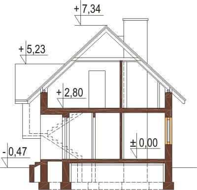 Projekt domu DM-6251 - przekrój