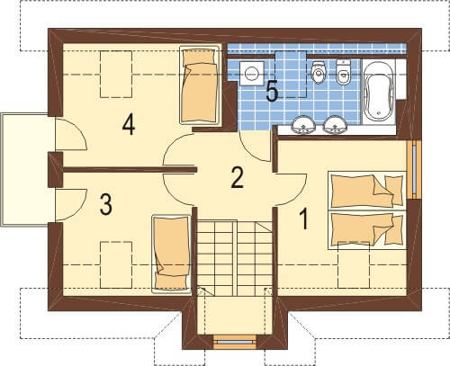 Projekt domu DM-6251 - rzut