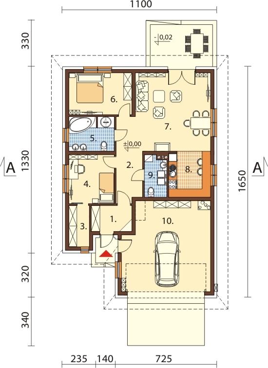 Projekt domu DM-6635 - rzut