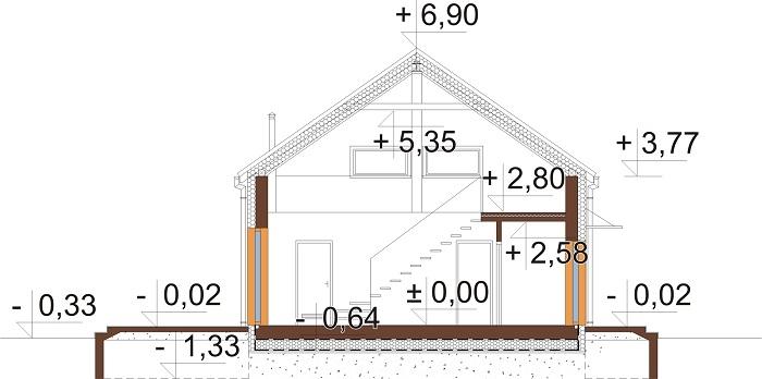 Projekt domu DM-6562 B - przekrój