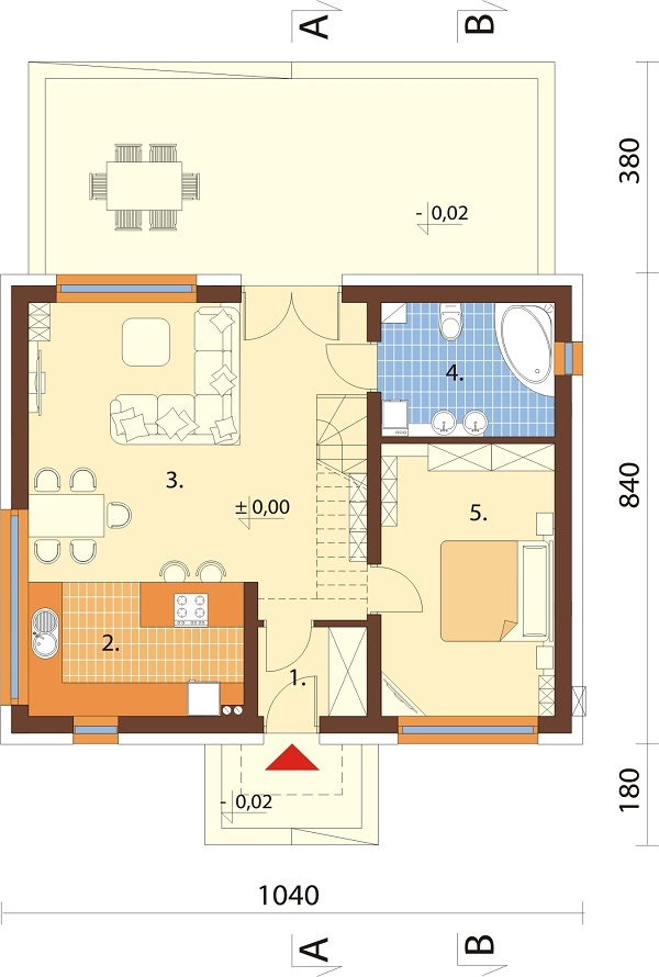 Projekt domu DM-6562 B - rzut