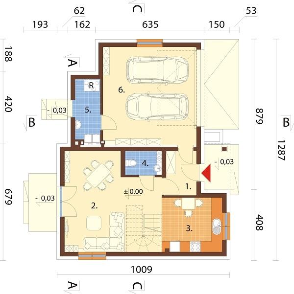 Projekt domu DM-6689 - rzut