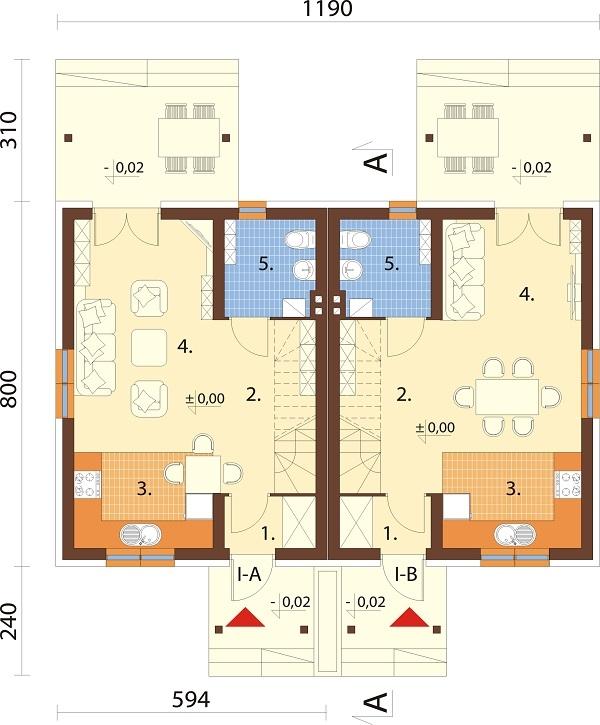Projekt domu DM-6684 - rzut