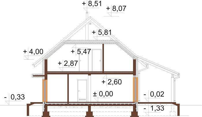 Projekt domu DM-6690 - przekrój