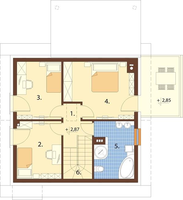 Projekt domu DM-6690 - rzut