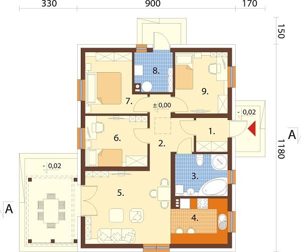 Projekt domu DM-6698 - rzut