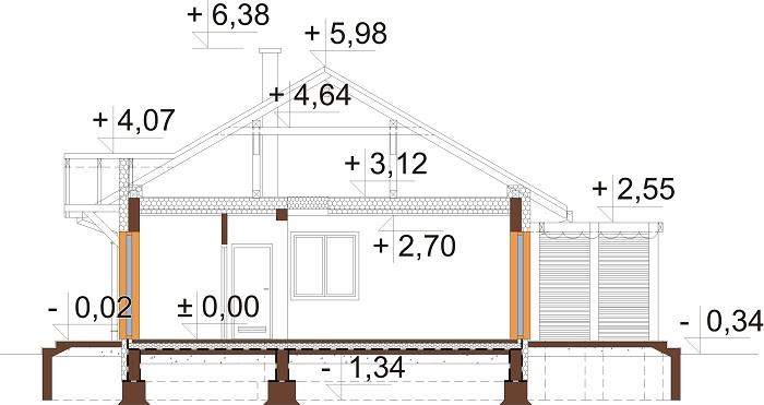 Projekt domu DM-6698 - przekrój