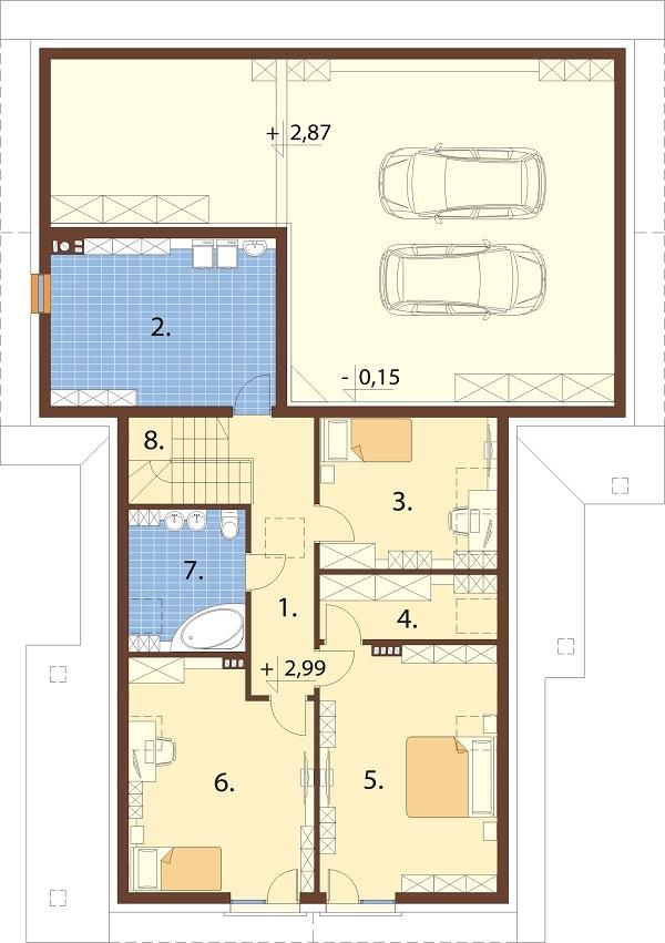 Projekt domu DM-6696 - rzut