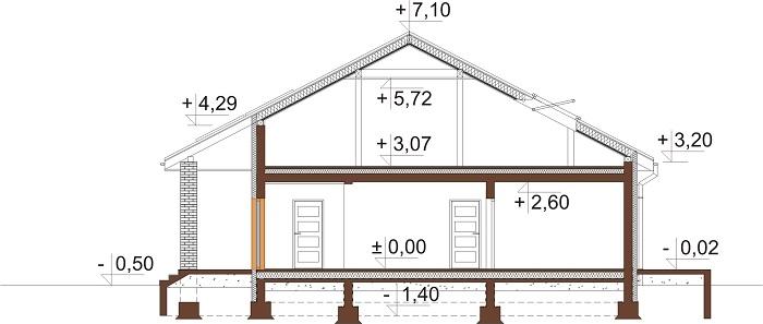 Projekt domu DM-6685 - przekrój