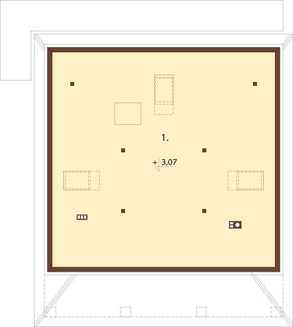 Projekt domu DM-6685 - rzut