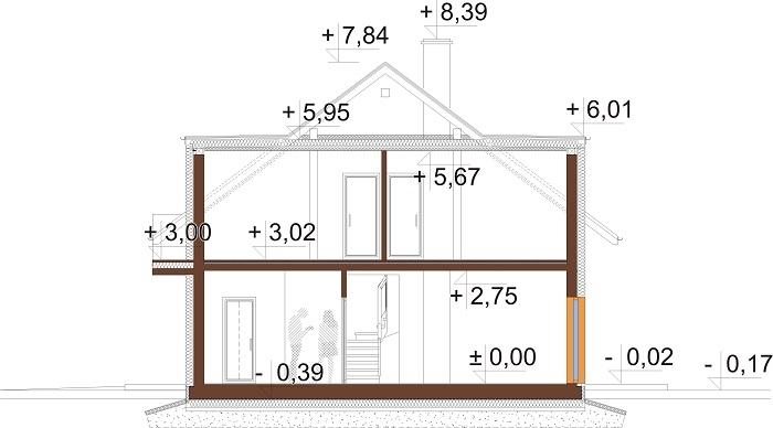 Projekt domu DM-6686 - przekrój