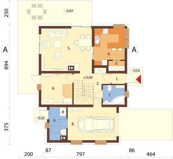 Projekt domu DM-6686 - rzut