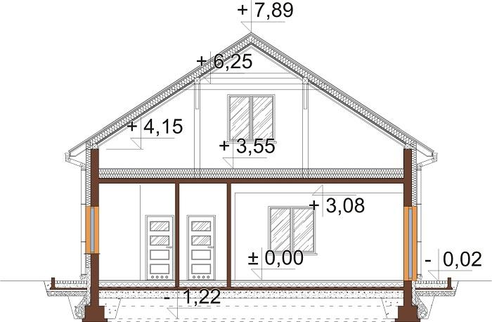 Projekt domu DM-6646 - przekrój
