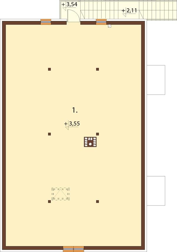 Projekt domu DM-6646 - rzut