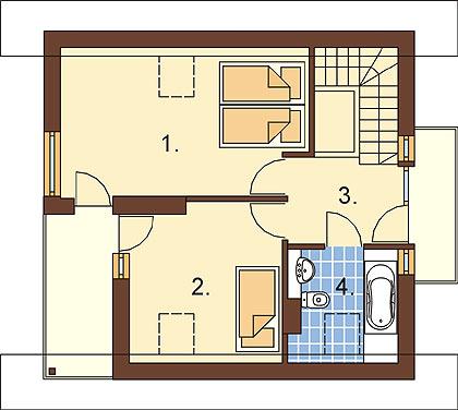 Projekt domu DM-6254 - rzut
