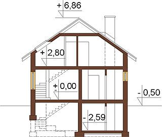 Projekt domu DM-6254 - przekrój