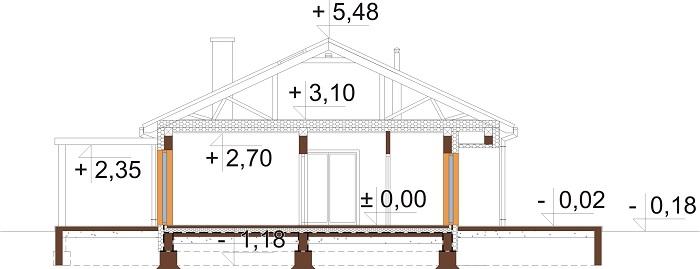 Projekt domu L-6694 - przekrój