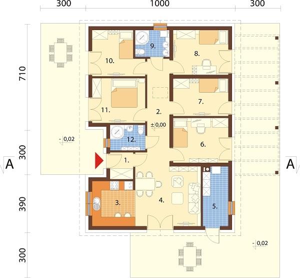 Projekt domu L-6694 - rzut