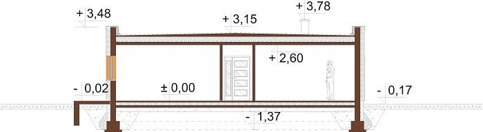 Projekt domu L-6643 - przekrój