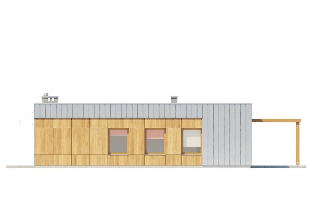 Projekt domu L-6643 - elewacja