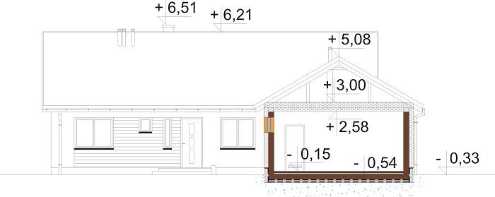 Projekt domu L-6682 - przekrój