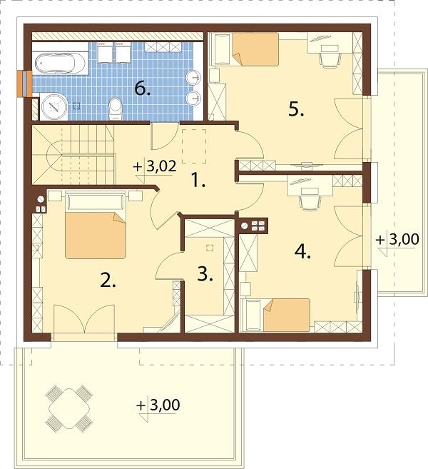 Projekt domu L-6673 - rzut