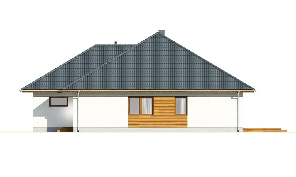Projekt domu L-6635 - elewacja