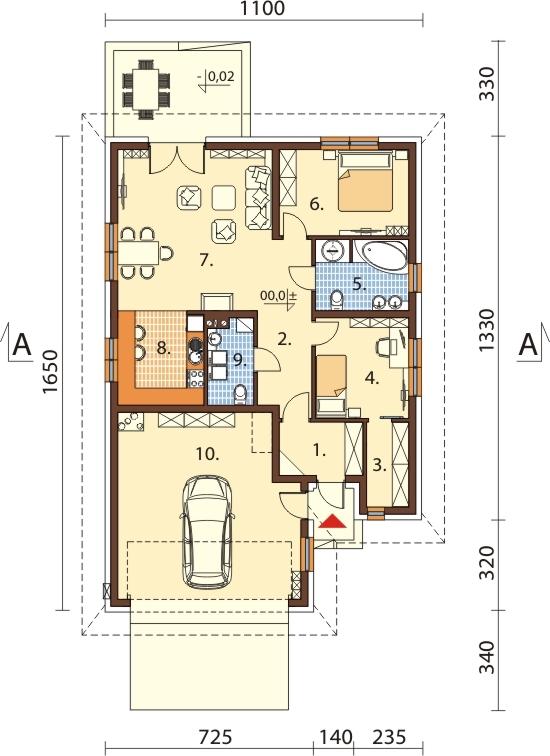 Projekt domu L-6635 - rzut