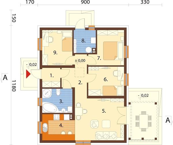 Projekt domu L-6698 - rzut