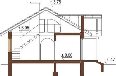 Projekt domu DM-6255 - przekrój