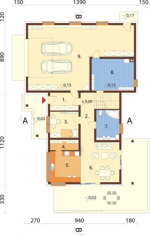 Projekt domu L-6696 - rzut