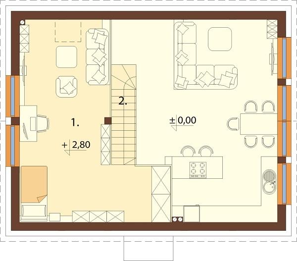 Projekt domu L-6562 B - rzut