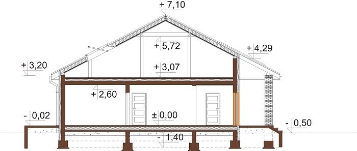 Projekt domu L-6685 - przekrój